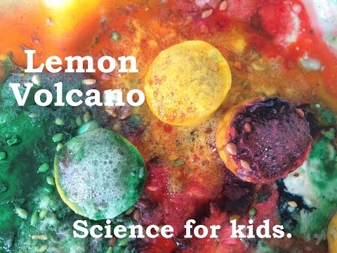 DIY - Lemon Volcano. Easy Science Experiment for kids!
