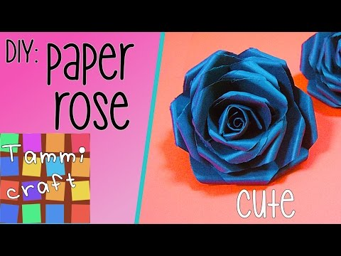 DIY: How to make a black paper rose - Tutorial - Tammi Craft