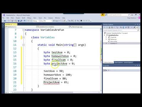 C# Creating Variables