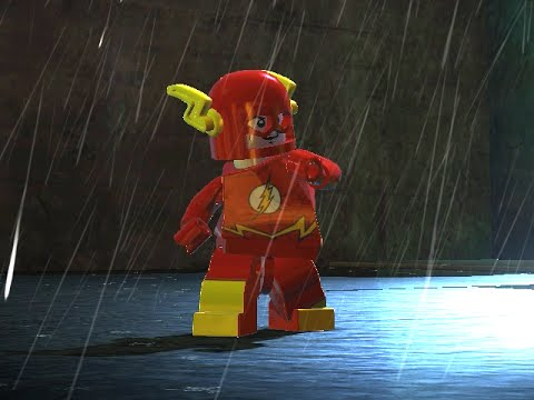 LEGO BATMAN 2 - THE FLASH FREE ROAM GAMEPLAY
