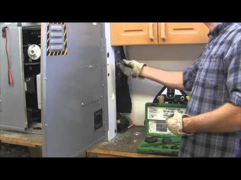 Electrical Wiring- How to Cut Holes in Metal Pt 2