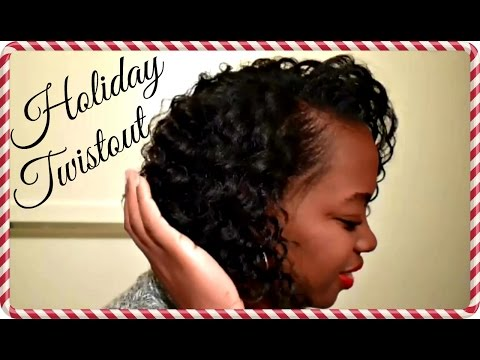 FLAT TWISTOUT ON WET RELAXED HAIR | HOLIDAY CURLS