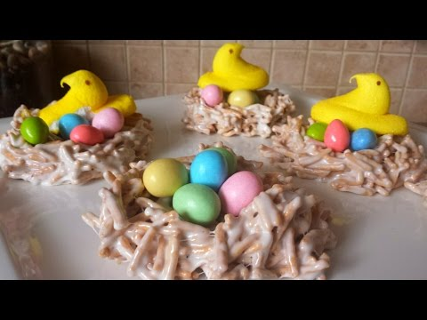 Peeps Marshmallow Easter Nest Treats with Chow Mein Noodles