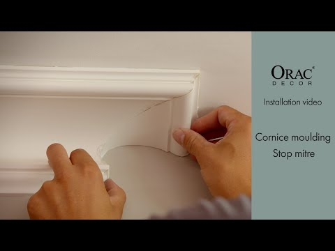 How To Install The Cornice Moulding Stop Mitre - Orac Decor® Installation Video