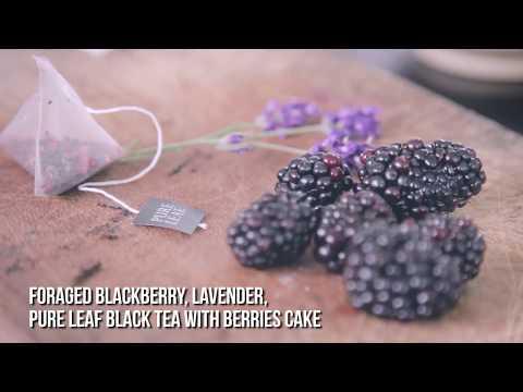 Honestly Healthy & Pure Leaf Black Tea With Berries:  Lavender & Blackberry Cake