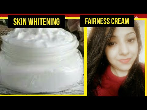 SKIN WHITENING CREAM WITH NATURAL INGREDIENTS| DIY SKIN WHITENING CREAM| GET WHITE FAIR GLOWING SKIN