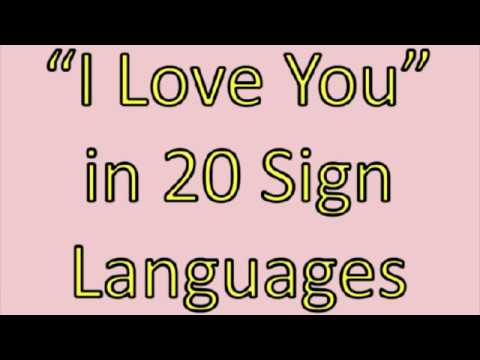 20 ways to Say I Love You In Sign Language  - Sign Language 101