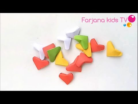 How to make 3D hearts / Diy 3d origami valentine heart