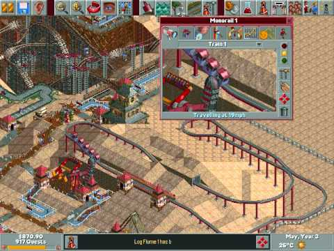 Roller Coaster Tycoon Part 6: Monorail Like A Boss