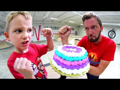 FATHER SON CAKE-ATHLON! (Obstacle Course! )