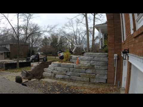 Time lapse - Natural Stone Slab Steps - Excavate