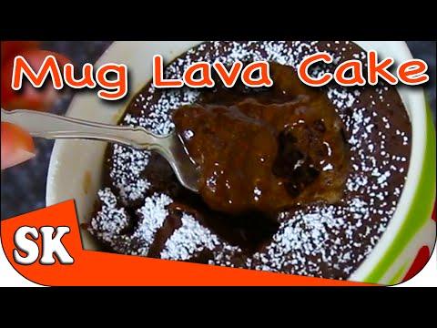 HOW TO MAKE CHOCOLATE LAVA CAKE IN A MUG