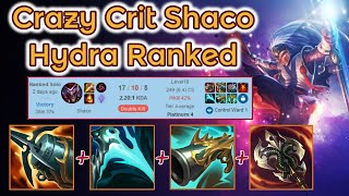 Crit + Hydra Shaco Jungle crazy Game - S11 Ranked [League of Legends] Full Gameplay - Infernal Shaco