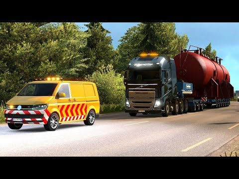70T  OVERSIZE LOAD - Special Transport DLC First Look   Euro Truck Simulator 2