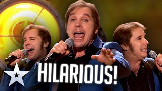 WITTY comedian can do impressions AND sing!   Live Shows   BGT Series 9