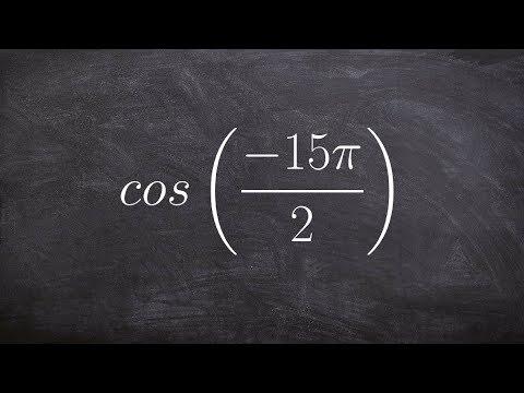 Using coterminal angles to evaluate the trigonometric function cosine