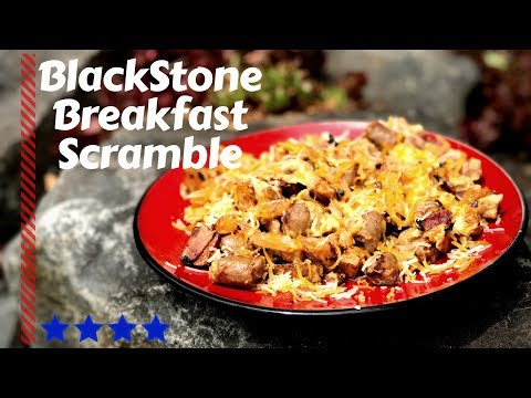 Blackstone Griddle Breakfast Scramble | Crazy Potatoes