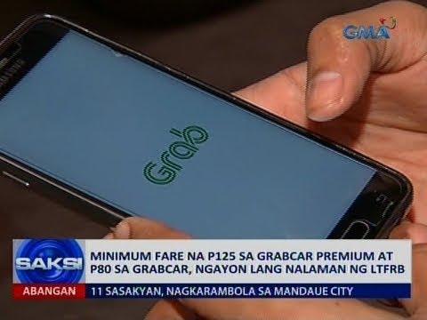 Minimum fare na P125 sa Grabcar Premium at P80 sa Grabcar, ngayon lang nalaman ng LTFRB