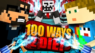 Minecraft: 100 WAYS TO DIE CHALLENGE - DOG SHOCK COLLAR CHALLENGE!!