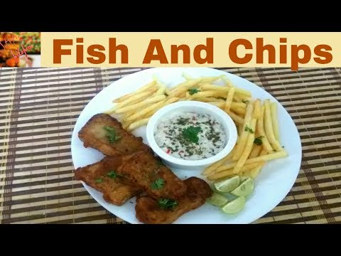 Fish And Chips Authentic Recipe(In Urdu/Hindi)How To Make Restaurant Style Fish And Chips At Home.
