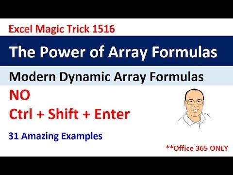 Comprehensive Excel Dynamic Array Formula Lesson: The Power of Array Formulas (EMT 1516)