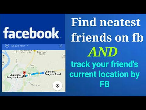 [ Hindi ] How to find nearest friends on facebook, and How to track the location of friends.
