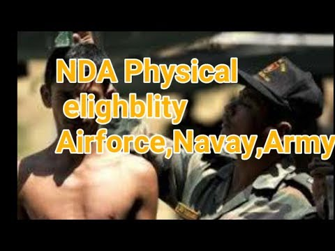 NDA physical Eligblity 2018 Airforce, Navy,Army