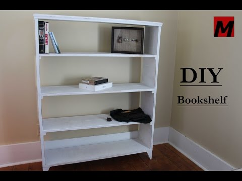 How to Make a Bookshelf == DIY 1 Hour Build w/ Reclaimed Wood