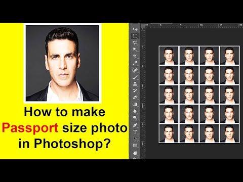 How to make passport size photo in Photoshop? | पासपोर्ट फोटो बनाए फोटोशॉप में