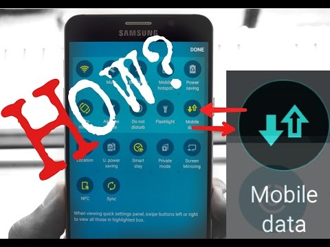 How to Add Mobile Data onto Samsung Device?