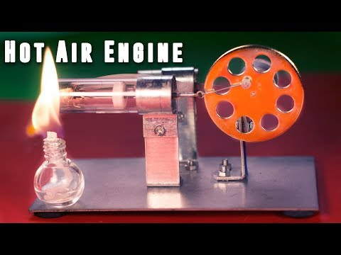 How to make A HOT AIR STIRLING ENGINE at home - DIY Science Project IDEA