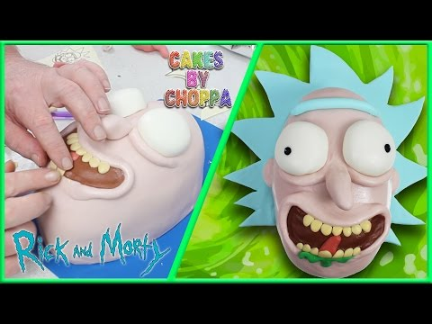 RICK - Rick and Morty Cake  (How To) Feat: PinkStylist