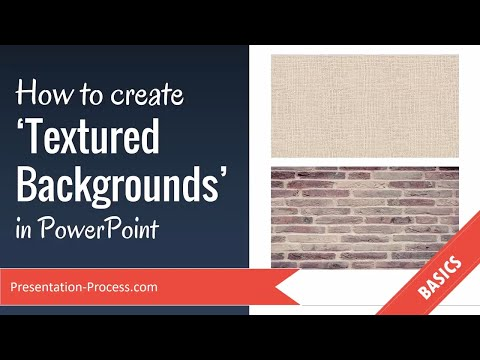 How to create Textured Backgrounds in PowerPoint