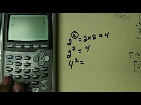 How To Put Exponents Into Your TI- calculator