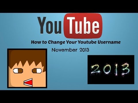How to Change Your YouTube Username November 2013