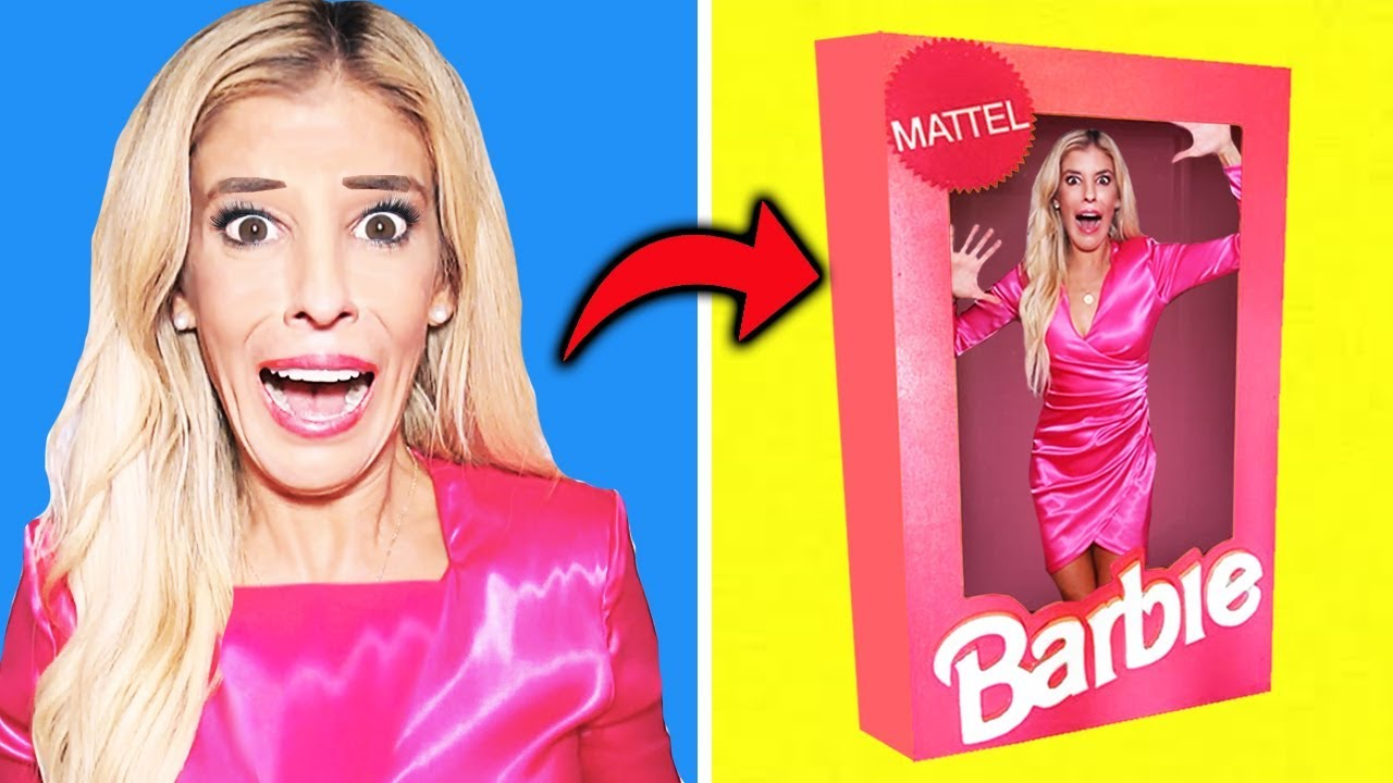 I Became a Giant Barbie Doll in Real Life inside Dollhouse! (Game Master DIY Escape Room Challenge)