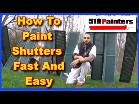 Painting Exterior Shutters Fast And Easy (How To)