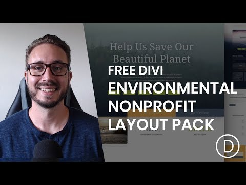 Get a FREE Environmental Nonprofit Layout Pack for Divi