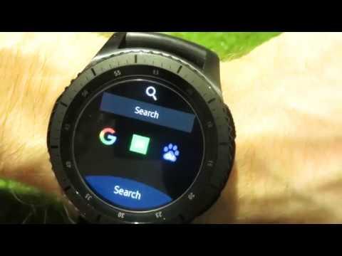 Samsung Gear S3 - Internet Browser app