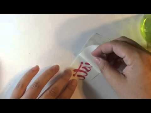Applying vinyl to water bottle how to
