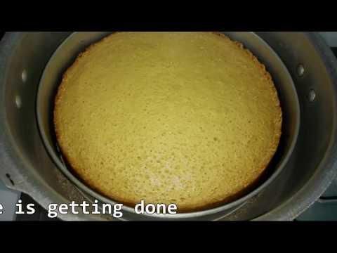 Sponge Cake without Oven || Eng. Subtitles || Pressure cooker Basic plain vanilla sponge cake