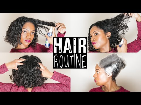 HAIR ROUTINE (UPDATED) (6 SIMPLE Steps) (Transitioning Hair)
