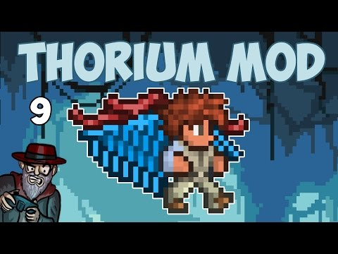 Terraria # 9 WINGS AND OP ARMOUR! - 1.3.4 Thorium Mod Let's Play