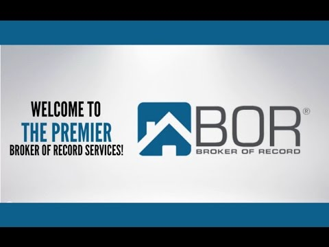 Broker of Record California
