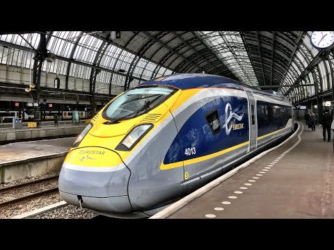Eurostar London to Amsterdam - the VERY FIRST train! 4th April 2018