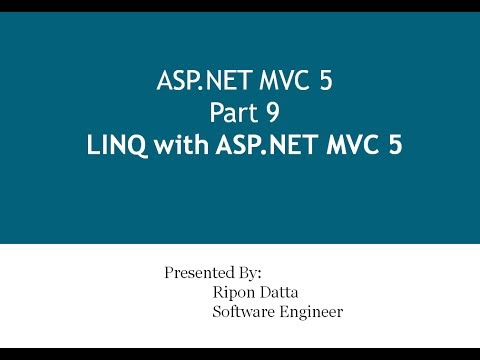 ASP.NET MVC 5 Step by Step: Part 9 LINQ with ASP.NET MVC 5