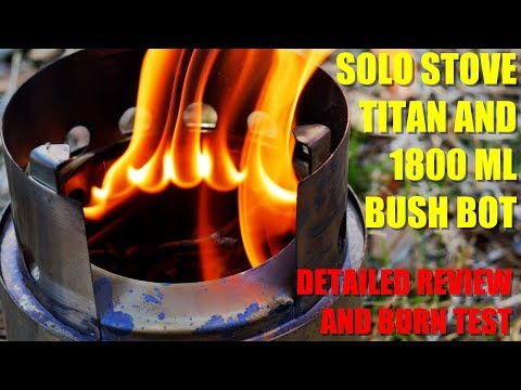 The BEST Portable Wood Stove? - The Solo Stove Titan and Pot