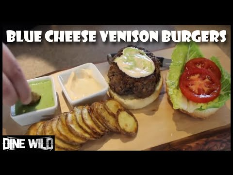 How to cook Venison Blue Cheese Burgers