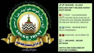 Tajhushsharia Ne Jo Fatwa Diya Hai Sanabil Raza Ke Khilaaf Wo Bilkul Sahi Hai By Mufti Mujeeb Ali Sb