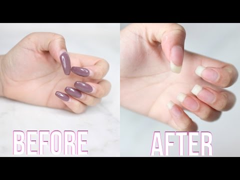 How To Remove Acrylic Nails At Home!